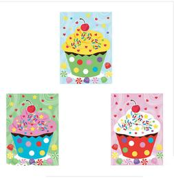 168 Stickers! TWO Sheets Make-a-Cupcake Sticker Scene Kids B