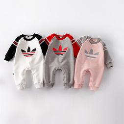 2018 Baby Kids Boy Girl Infant Romper Jumpsuit Bodysuit Cott