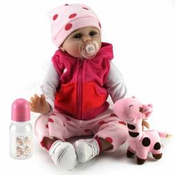 22'' New Reborn Girl Baby Dolls Realistic Vinyl Silicone New