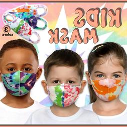 3 Pack Tie Dye Face Mask for Kids! Toddler Reusable Washable
