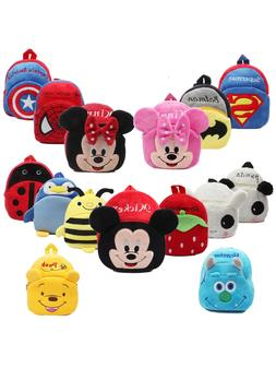 3D Cartoon School Bag <font><b>Kids</b></font> Plush <font><