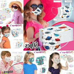 50/100PC Face Mask Mouth Masks Kids Baby, Childrens, Girls,