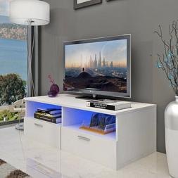 "55"" High Gloss LED TV Cabinet Stand Entertainment Center Sto"
