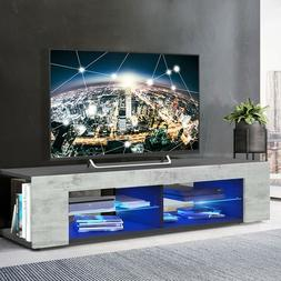 """57"""" High Gloss TV Stand Unit Cabinet Modern RC Console Table"""