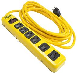 Yellow Jacket 05138N 6 Outlet Metal Surge Protector With 15'