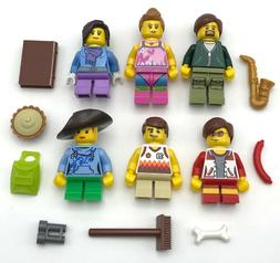 LEGO 6 NEW MINIFIGURES FAMILY MOM DAD KIDS MOTHER FATHER FIG