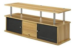 Convenience Concepts Designs2Go TV Stand with 3 Cabinets for