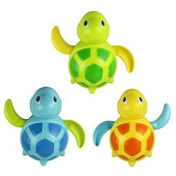 FEITONG Random Color Newborn babies swim turtle wound-up cha