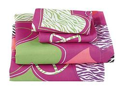 Fancy Collection 4pc Full Size Girls/Teens Sheet Set Hot Pin