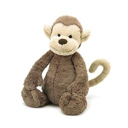 Jellycat Bashful Monkey Stuffed Animal, Medium, 12 inches