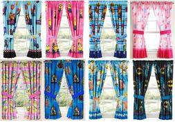 KIDS GIRLS BOYS WINDOW CURTAINS DRAPES-MULTIPLE DISNEY CHARA