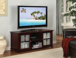 King's Brand E4818 Wood Plasma TV Stand Entertainment Center