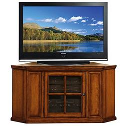 Leick Riley Holliday Corner TV Stand, 46-Inch, Burnished Woo