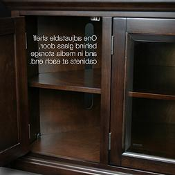 Leick Riley Holliday Corner TV Stand with Storage, 46-Inch,