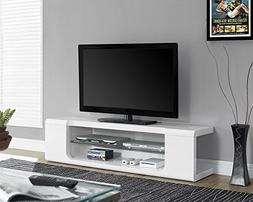 Monarch Specialties I 3535, TV Console, High Glossy with Tem