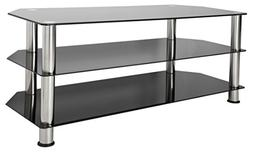 SDC1140-A Glass and Chrome TV Stand for TVs Up to 55 Inches