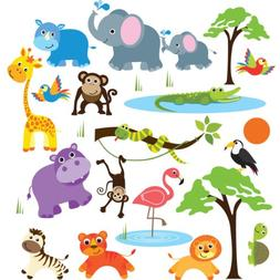 Safari Adventure Decorative Peel & Stick Wall Art Sticker De