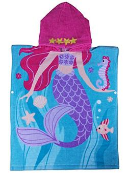Age 2-7 Years Girls Beach Towel, of 100% Long-Staple Cotton,