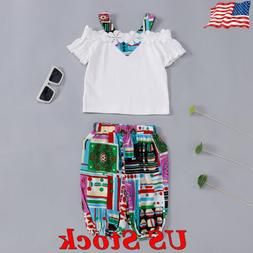 Baby Girls Clothing Outfits Sets Print Tops Pants Novelty Ki