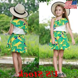 Baby Girls Clothing Sets Floral Print Tops Dress Novelty Kid