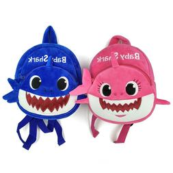 Baby Kids Shark Backpack Cartoon Animal Bag Girls Boys Soft