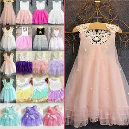 Baby Toddler Flower Girl Kid Princess Party Pageant Tutu Wed