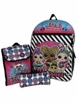 LOL Surprise Backpack, Lunch Bag and Pencil Case 3-Piece Sch