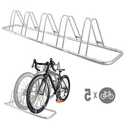 CyclingDeal 5 Bike Bicycle Floor Parking Rack Storage Stand
