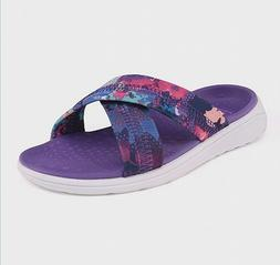 Champion Big Kids Girls Malvina Cross Band Cushioned Slides