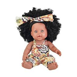 TUSALMO 2018 Newest 12 inch Toy Baby Black Dolls for Kids an