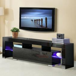 "63"" High Gloss LED TV Stand Furniture Console Cabinet Unit S"