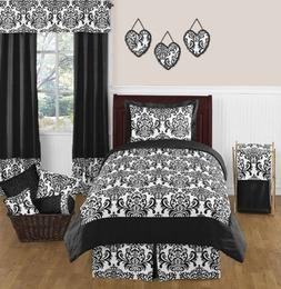 Sweet Jojo Designs 4-Piece Black and White Isabella Girls Ch