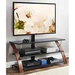 Whalen Payton Brown Cherry 3-in-1 Flat Panel TV Stand for TV