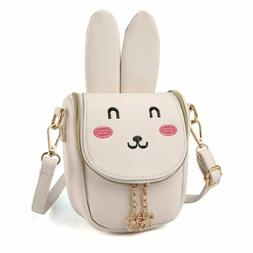 Cmk Trendy Kids Bunny Purse Shoulder Bags For Girls Gifts Fo