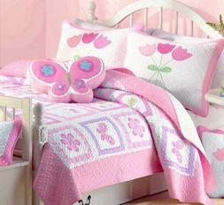 Cozy Line Home Fashions Butterfly Tulip Quilt Bedding Set, O