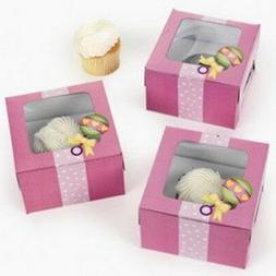 Fun Express Cardboard Baby Girl Shower Cupcake Boxes, Pack o