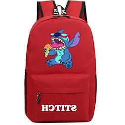 YOURNELO Cartoon Lilo & Stitch Backpack Canvas School Bag Bo