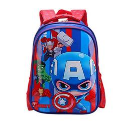 YOURNELO Boy's Girl's Cartoon PU Waterproof Rucksack School
