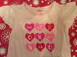 Cat & Jack Girls' Valentine's Day Hearts Nightgown. New. Cho