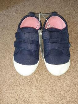 Cat And Jack Toddler Girls Shoes Size 10 Navy Blue