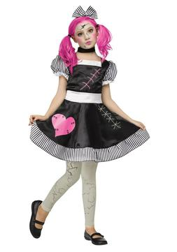 Child Kids Girls Scary Broken Baby Doll Costume SIZE S