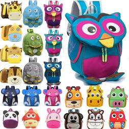 Children Toddler Kids Boys Girls 3D Cartoon Backpack Schoolb