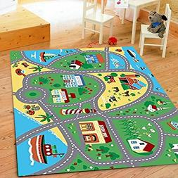 Furnish my Place City Street Map Children Learning Carpet Pl