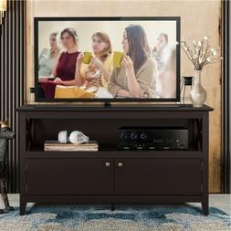 "Coffee 44"" TV Stand Cabinet Console w/2 Doors Shelf for Livi"