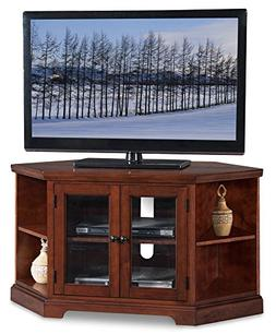 """Leick Riley Holliday 46"""" Corner TV Stand in Brown Cherry"""