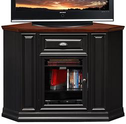 Leick 87232 Riley Holliday TV Stand, 46 inches, Black Rub