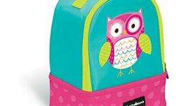 Crocodile Creek Eco Kids Owl Insulated Two Compartment Girls