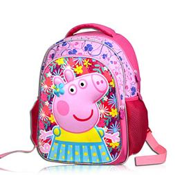 YOURNELO Kid's Cute Cartoon Peppa Pig Rucksack School Backpa