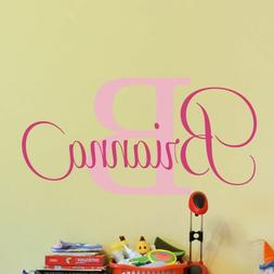 Decal Decor Kids Girls Sticker Personalized Name Nursery Bed