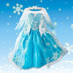 Disney Kids Girls Frozen Elsa Queen ice princess Costume par